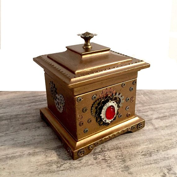 Steampunk Jewelry Box Musical Ring Box Decorated Storage RingBox
