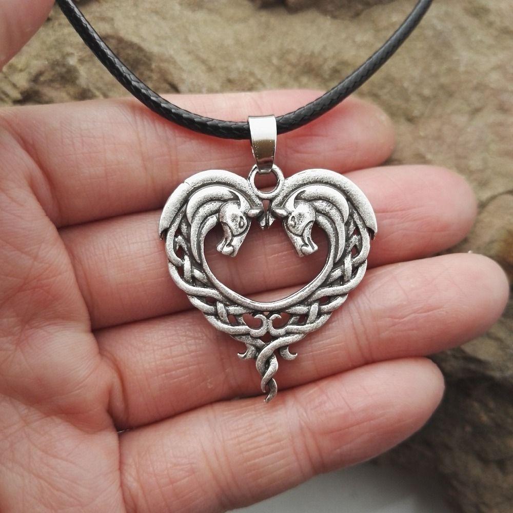 Celtic horse necklace horse necklace horse heart