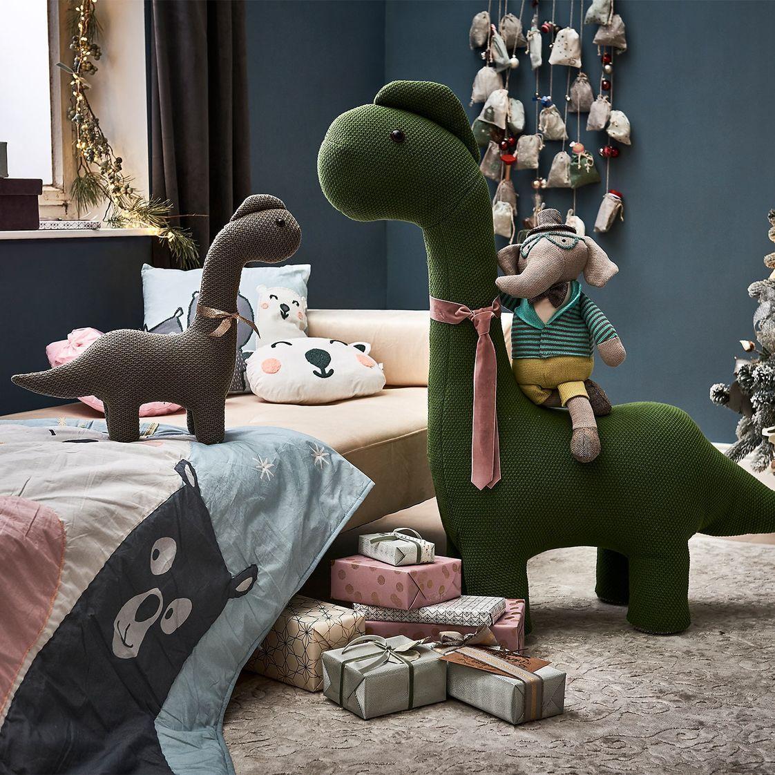 Hocker Dino, 92x28x105cm, grün Kinderzimmer deko, Kinder