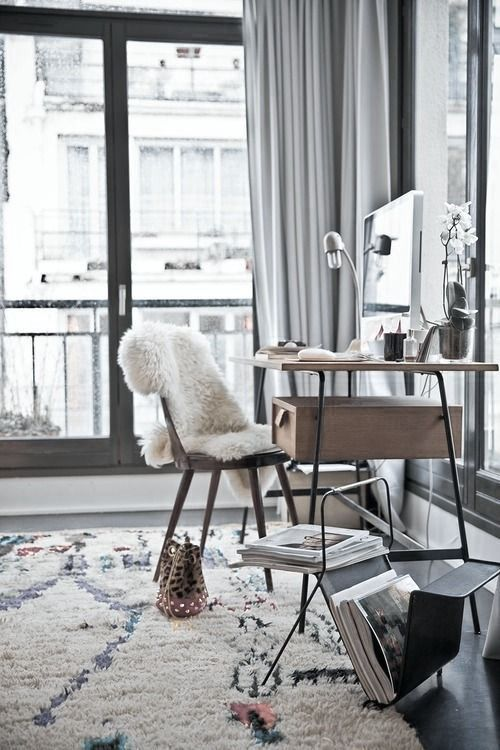 home office rug placement. Desk Industrial Style Office Laundry-Room - Home And Garden Design Ideas Houzz Design, Decorating Remodeling Inspiratio. Rug Placement
