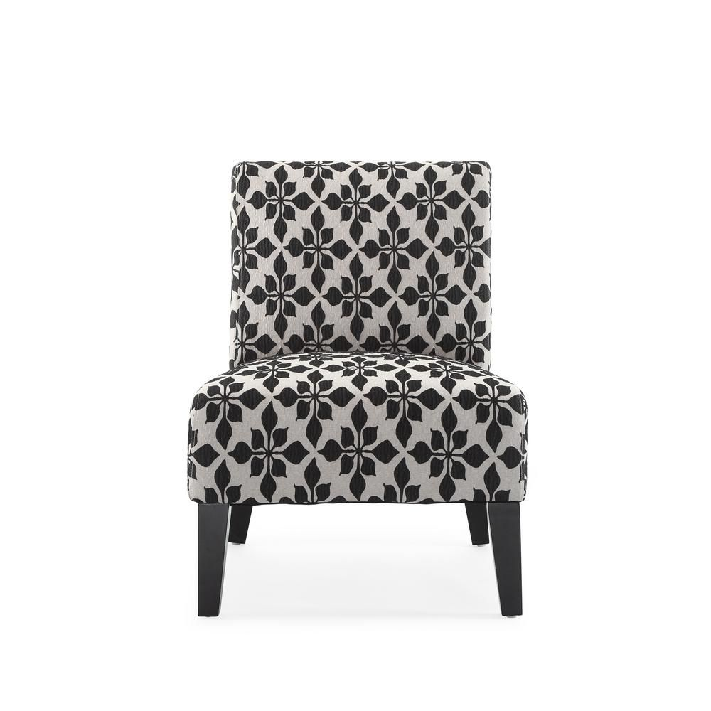 Monaco Black Spades Accent Chair Ac Mn Dor 95b Accent Chairs For