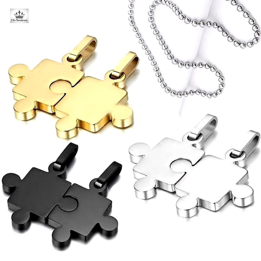 Bague homme  acier croix puzzle