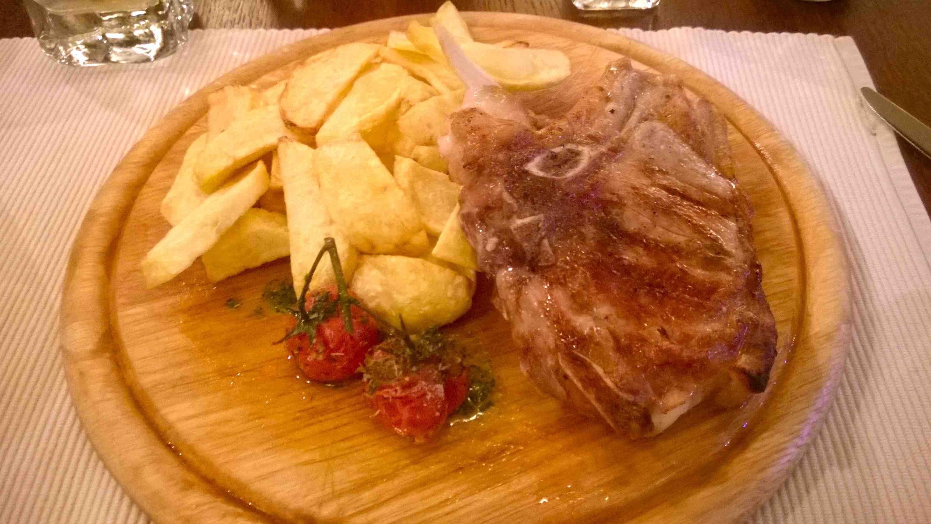 Rich House Restaurant meat and potatoes Sofia Bulgaria