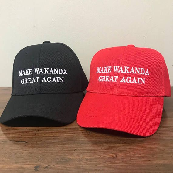 2-Packs Make Wakanda Great Again Wakanda Hat Wakanda Cap Black Panther Hat a15ffe66301