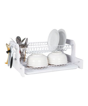 Home Basics 2 Tier Dish Rack Entrancing Another Great Find On #zulily White Twotier Dish Rackhome 2018