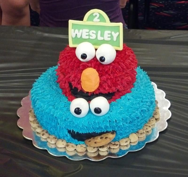 elmo and cookie monster cake my sweet fancy cakes by
