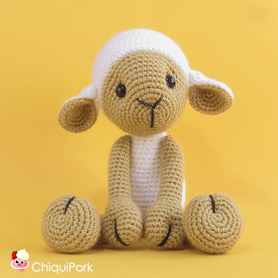 Handmade Crochet Lamb Amigurumi Stuffed Animal Toy Baby Gift (Rose ... | 960x960