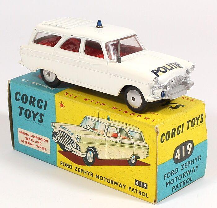 Corgi Toys 419 Ford Zephyr Polite Dutch Police Car Pic Courtesy Of