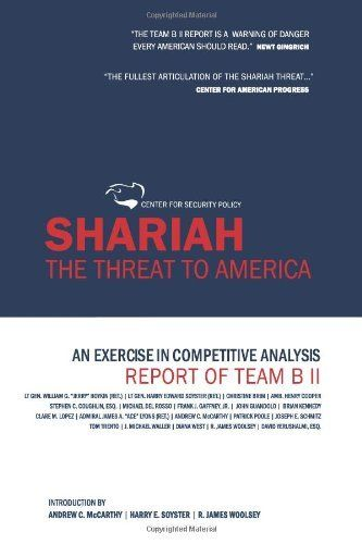 Shariah The Threat To America An Exercise In Competitive - competitor analysis report