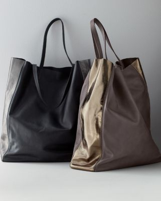 Eileen Fisher Italian Leather Tote Garnet Hill