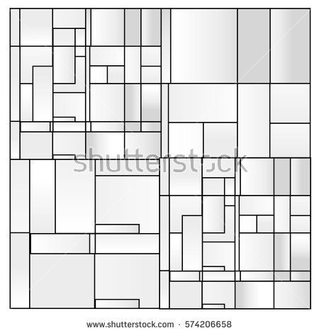 White abstract background vector. Template background for poster. Square pattern illustration