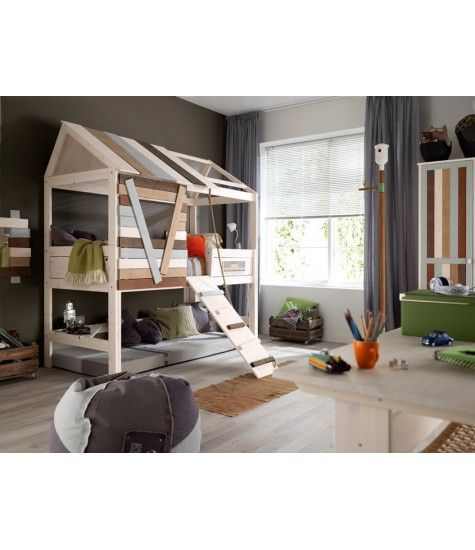 climb your rope ladder and relax in your hut cool on wonderful ideas of bunk beds for your kids bedroom id=21043
