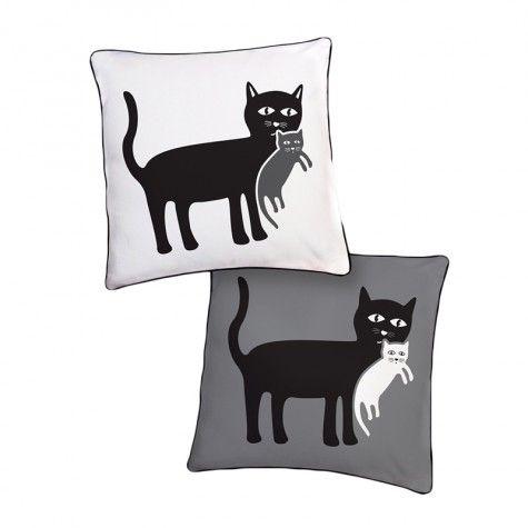 Мать кошка и котенок Реверсивный Подушка | Подушки ...