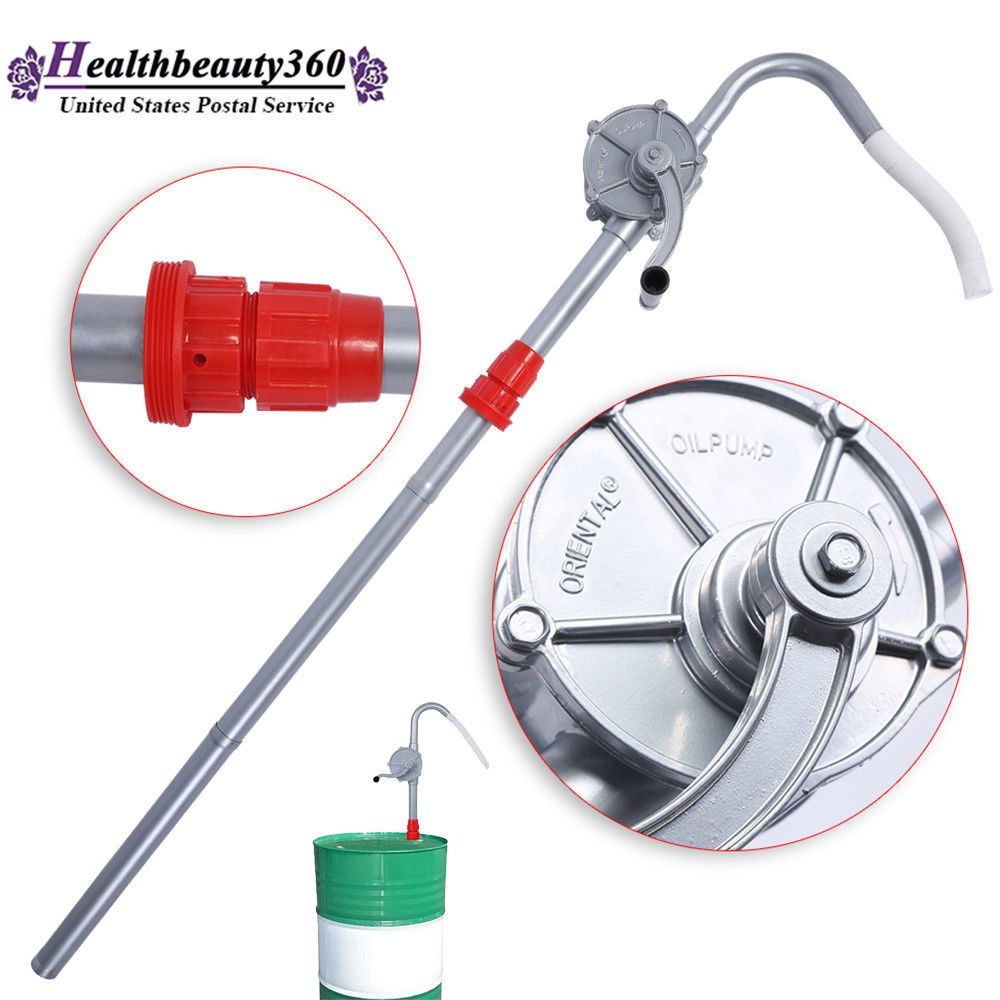 Aluminum Rotary Gas Oil Fuel Hand Pump 55 Gallons Self Priming Dispenser 10 GPM EBay Link