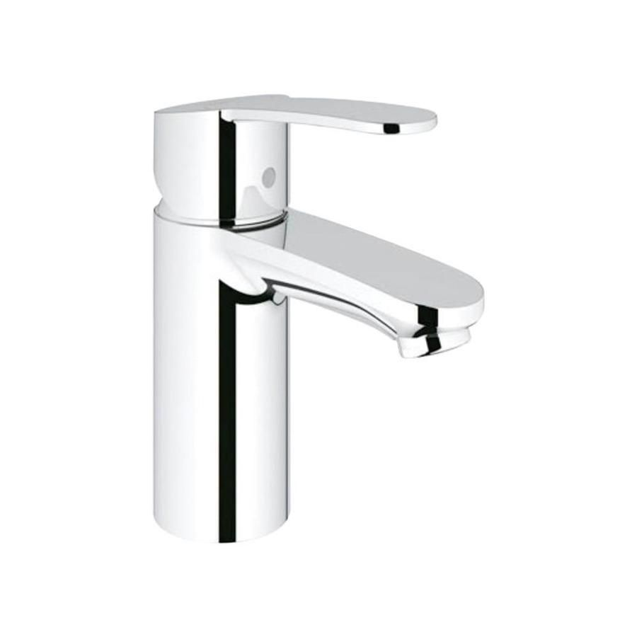 Grohe Eurostyle Cosmopolitan Starlight Chrome 1 Handle Single Hole Bathroom Sink Faucet Lowes Com Bathroom Faucets Single Hole Bathroom Faucet Low Arc Bathroom Faucet [ 900 x 900 Pixel ]