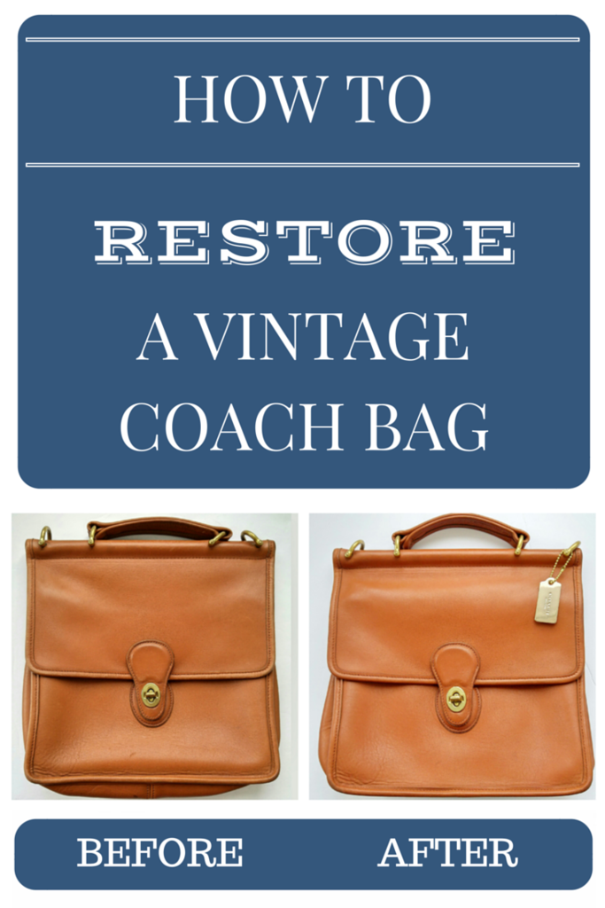 80c78328673 How to Restore a Vintage Coach Bag  A Step-by-Step Tutorial