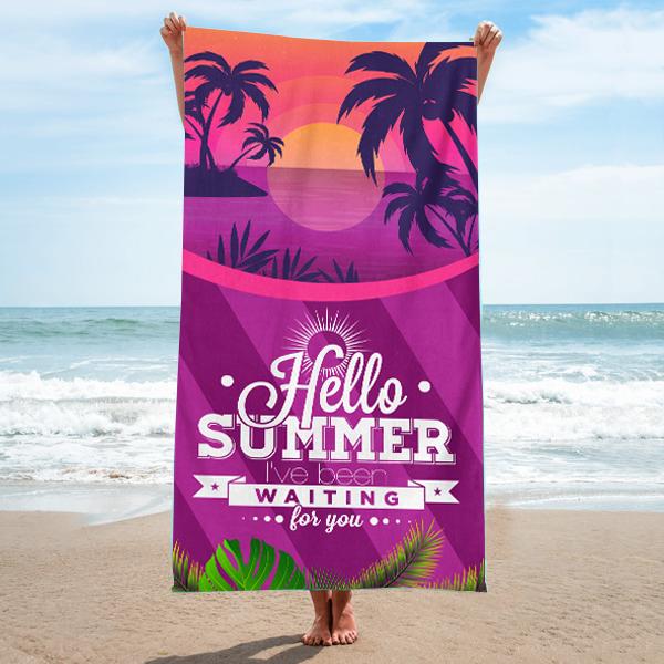 Hello Summer 2020 Summer Beach Towels Hello Summer Beach Towel Gift