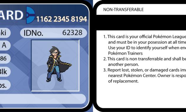 The Amazing Pokemon Trainer Cardseijitataki On Deviantart Within Pokemon Trainer Card Template Image Below I Pokemon Trainer Card Card Template Best Templates