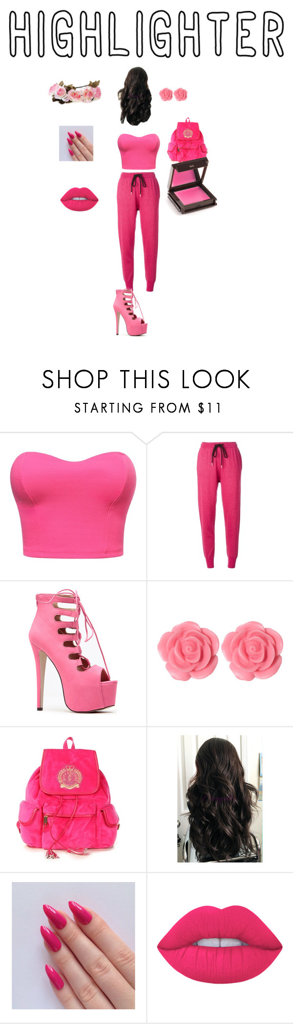 """Untitled #2"" by danielle062504 ❤ liked on Polyvore featuring Markus Lupfer, Dollydagger, Juicy Couture, Lime Crime and Jouer"