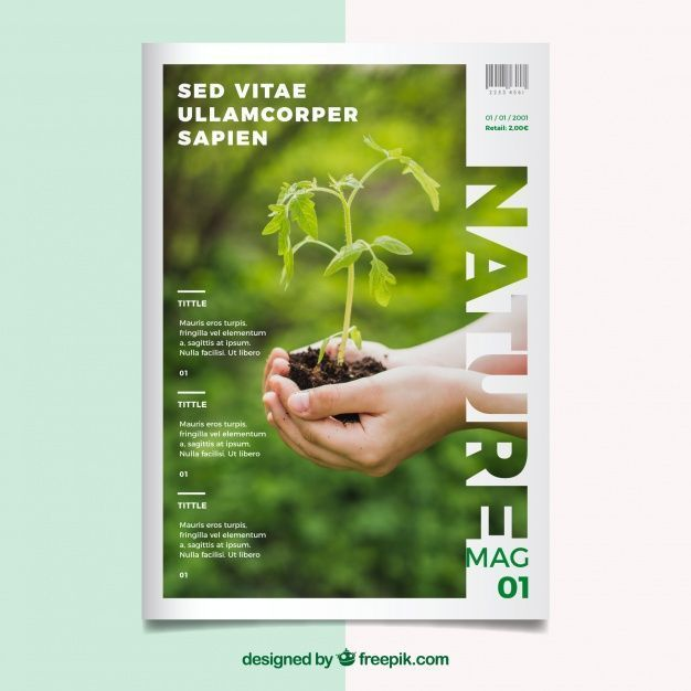 Nature Magazine Cover Model With Photo Capter De Photo Model Nature Pin Coffee In 2020 Magazine Cover Template Editorial Design Magazine Magazine Design Cover