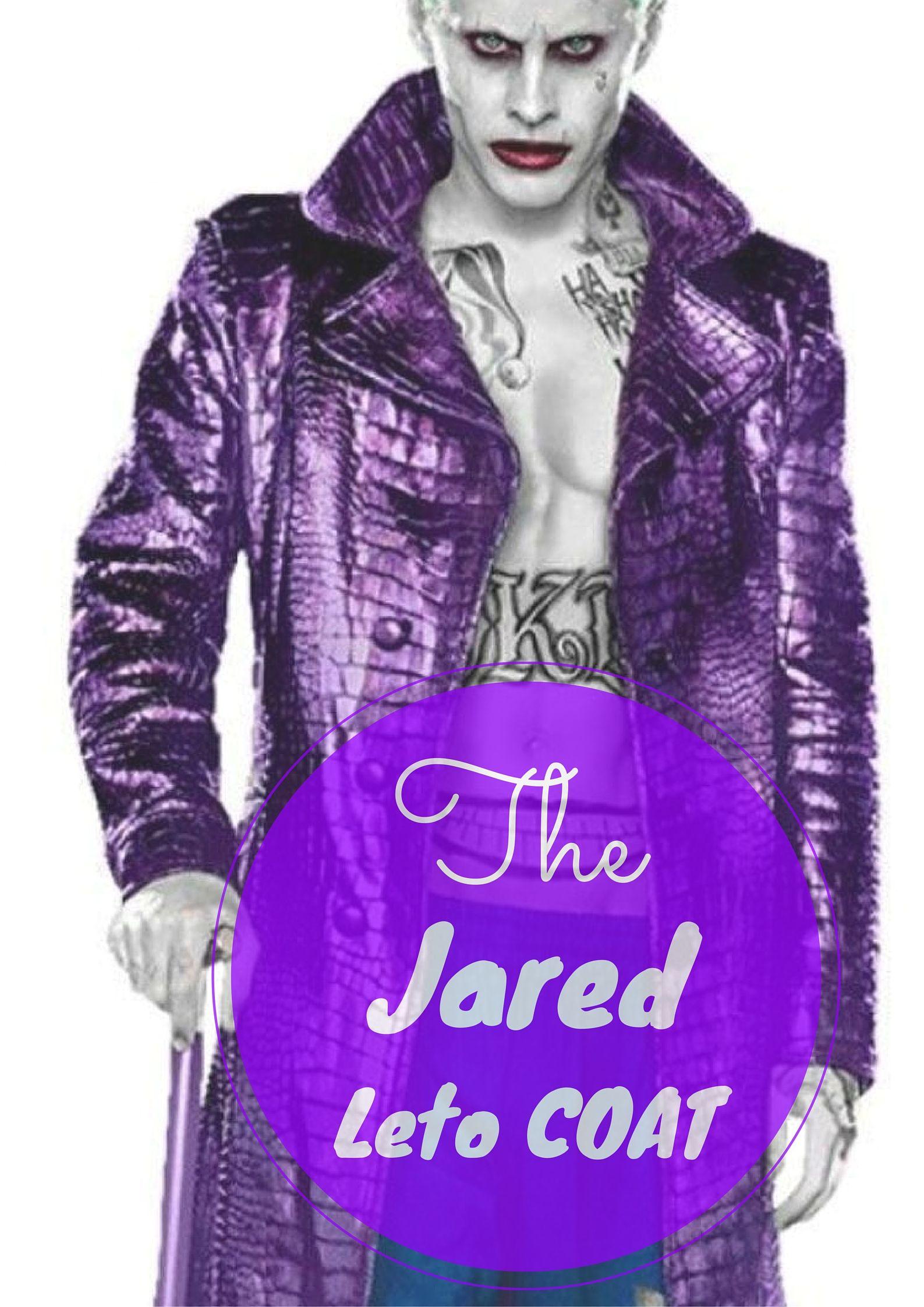 Jared Leto Sucide Squad/'s Hero Men/'s Black Biker Leather Jacket