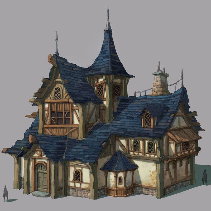Background ファンタジーハウス 建築画 ファサード デザイン