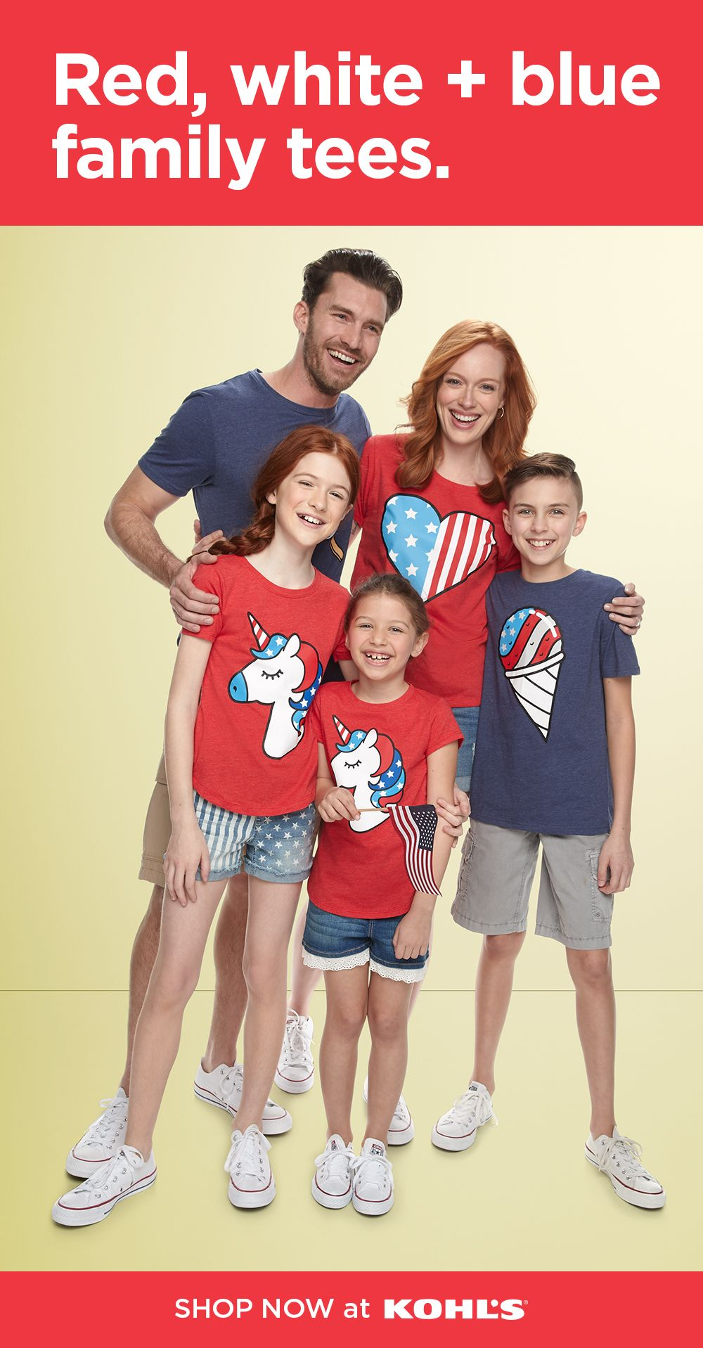 Find starspangled tees for the family at Kohl's! Whether