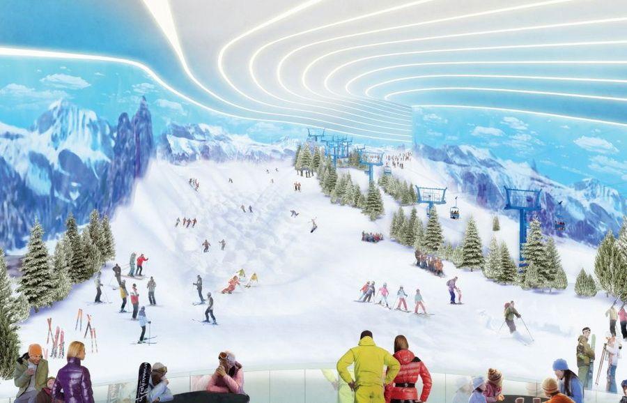 American dream ski slope rendering the ultimate