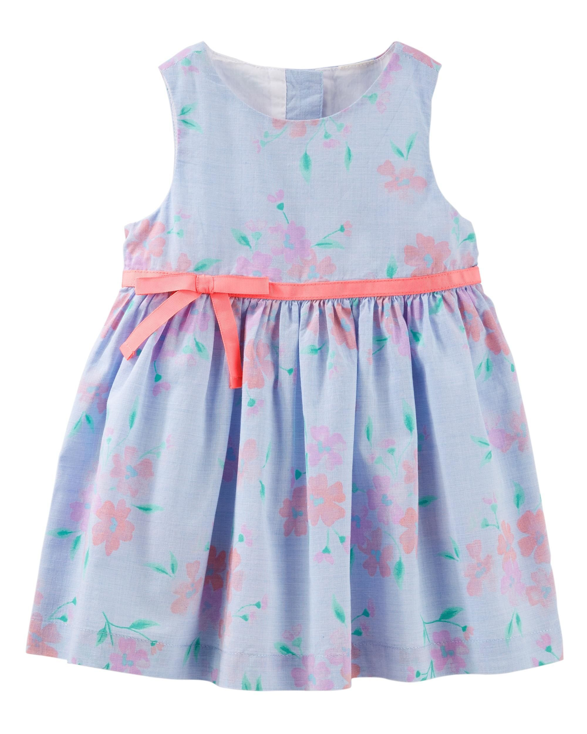bfdd0f84 A pretty floral pattern and sweet tacked bow are what help make this poplin  dress a must-have for the season! Complete the look with comfy flats and a  ...