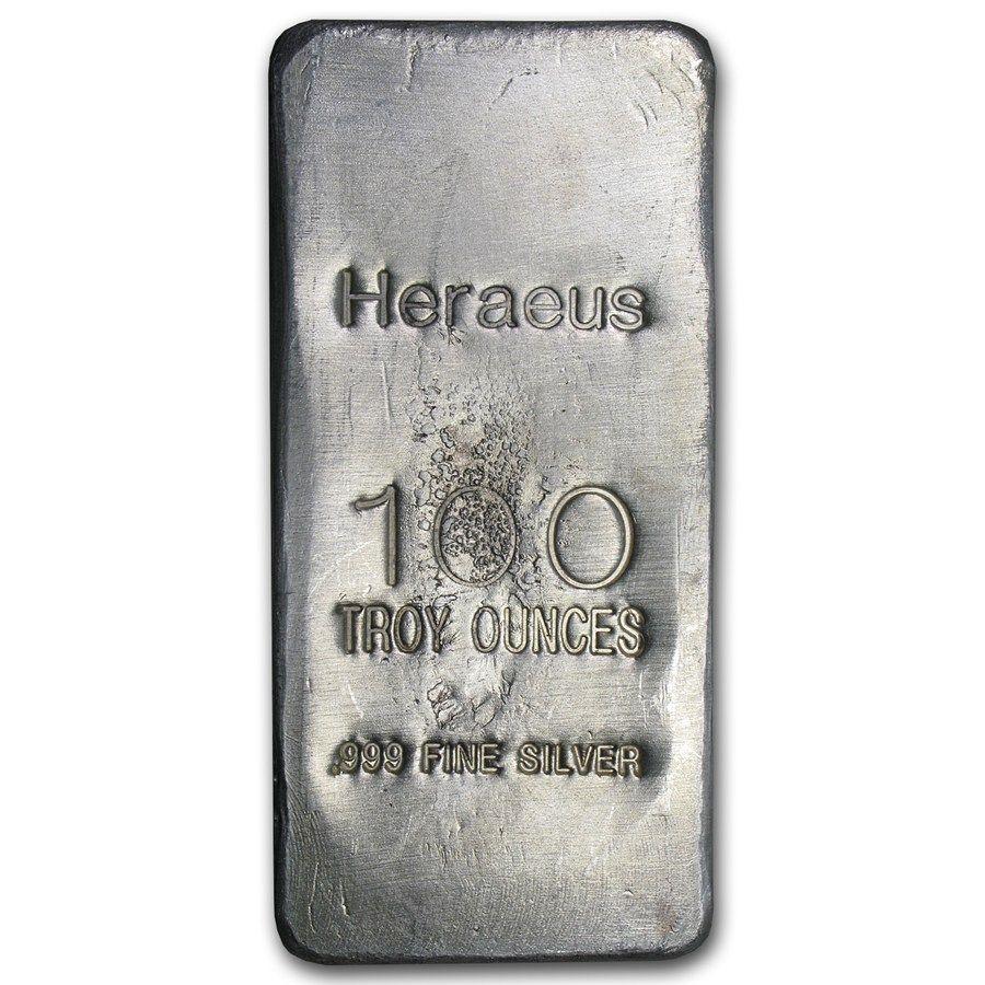 100 Oz Silver Bar Argor Heraeus Poured 100 Oz Silver Bars Apmex Silver Bars Silver Bullion Gold Bullion Coins