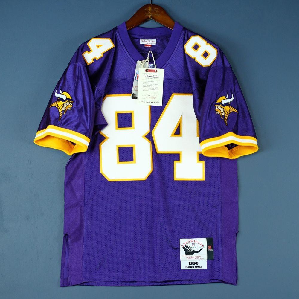 9159f56a 100% Authentic Randy Moss Vikings Mitchell & Ness NFL Jersey Size ...