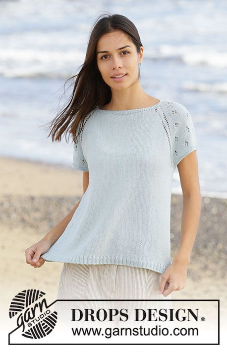 Rivage Top / DROPS 199-23 - Free knitting patterns by DROPS Design