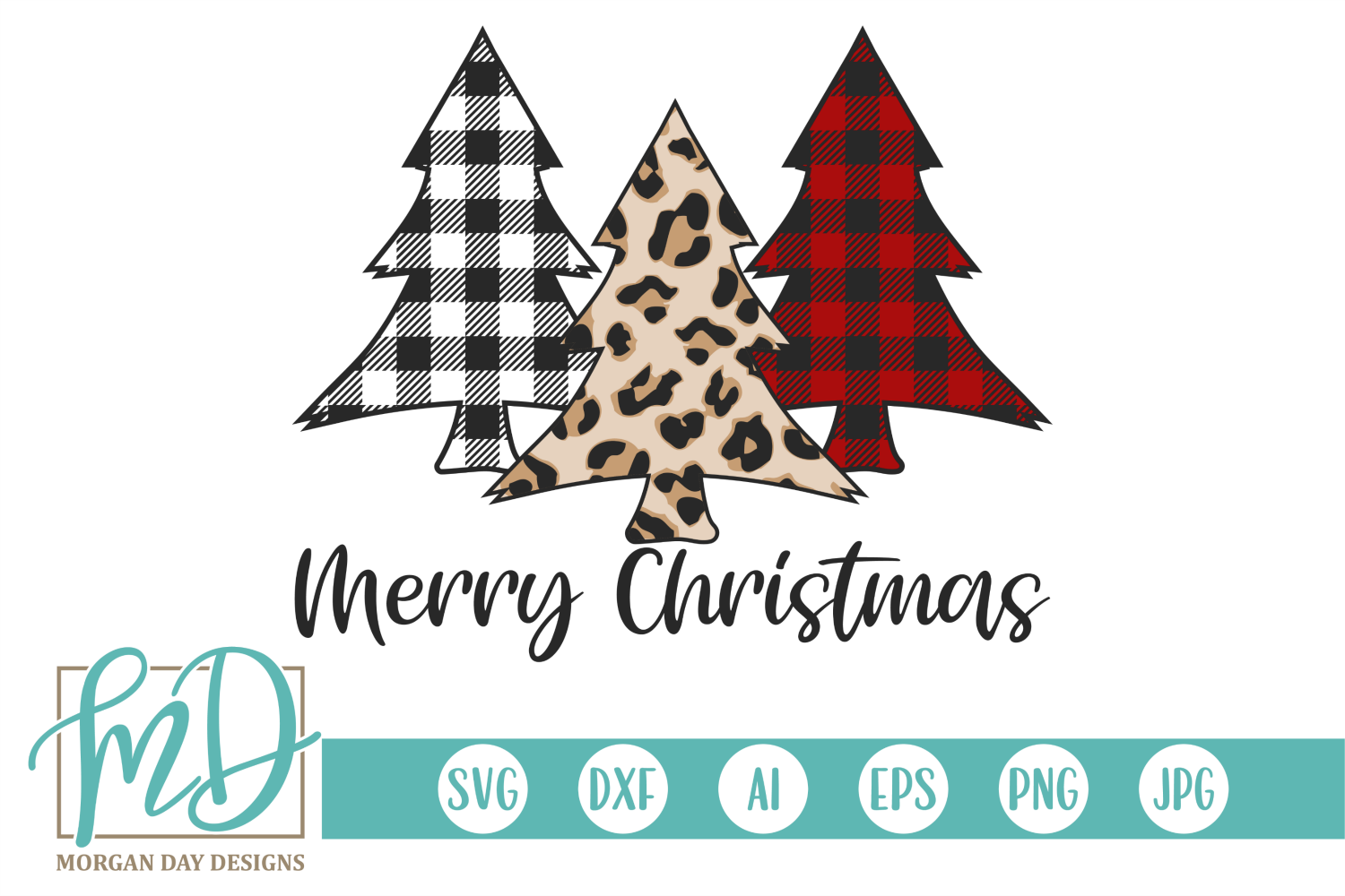 Merry Christmas Svg With Trees
