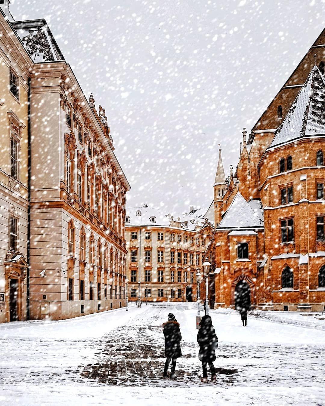 Snow Falling In Vienna Austria By Greg Sideris Gregsideris On Instagram Vienna Winter Vienna Wonders Of The World