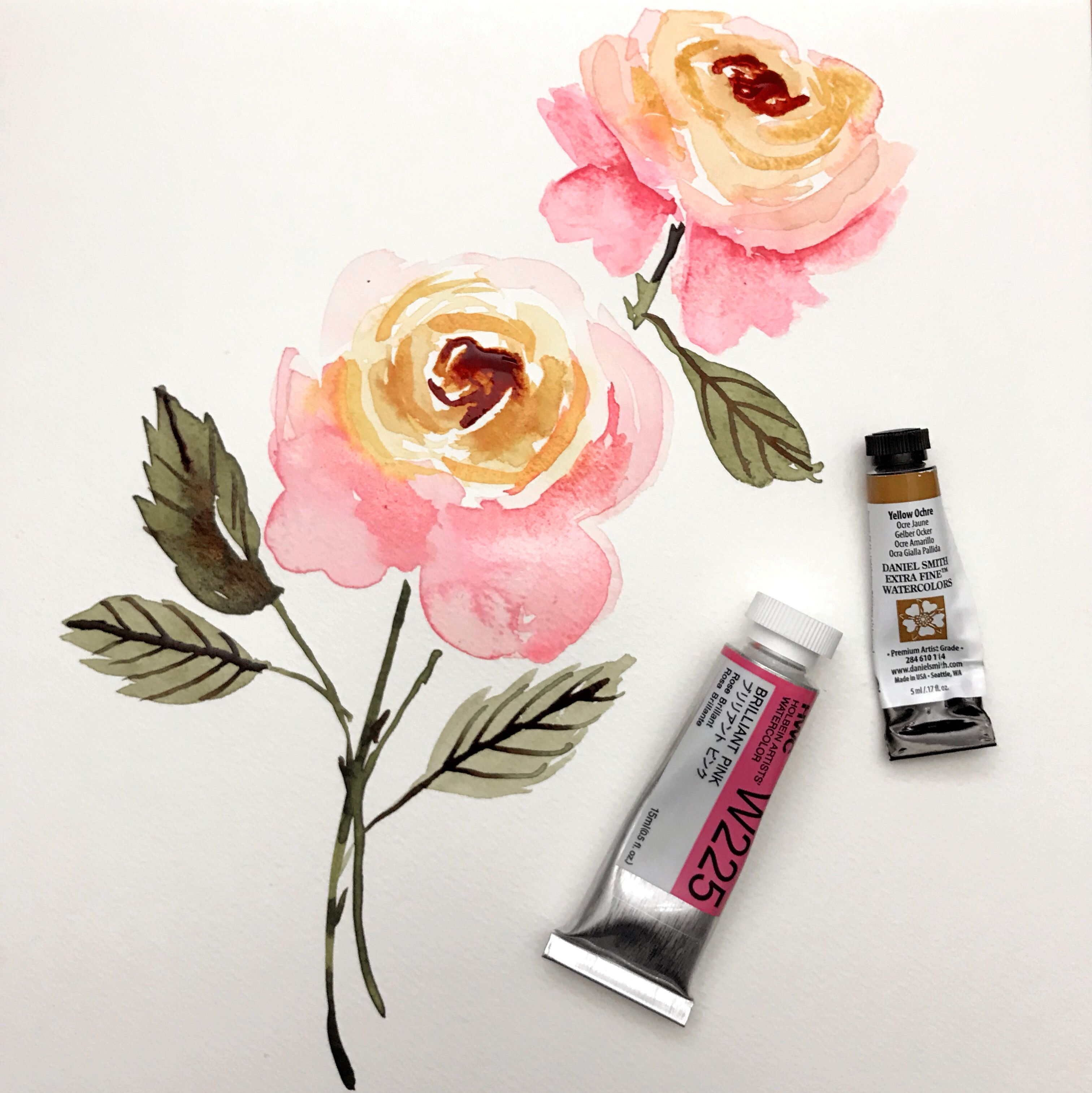Learn How To Add Depth To Your Watercolor Flowers With Erin Of