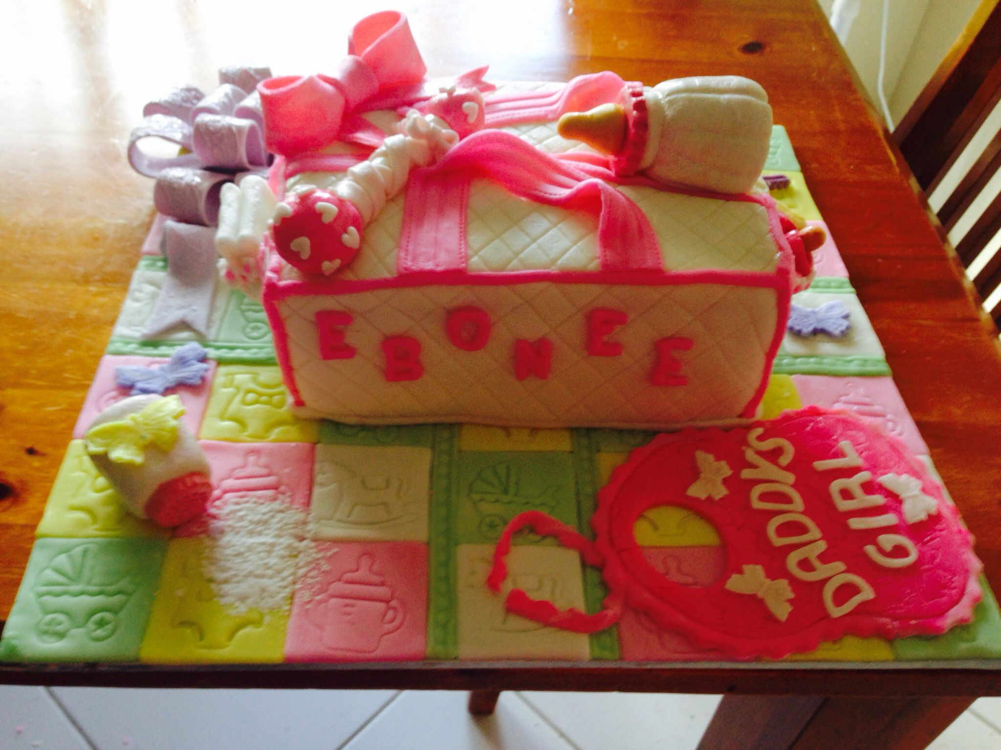 Nappy bag cake