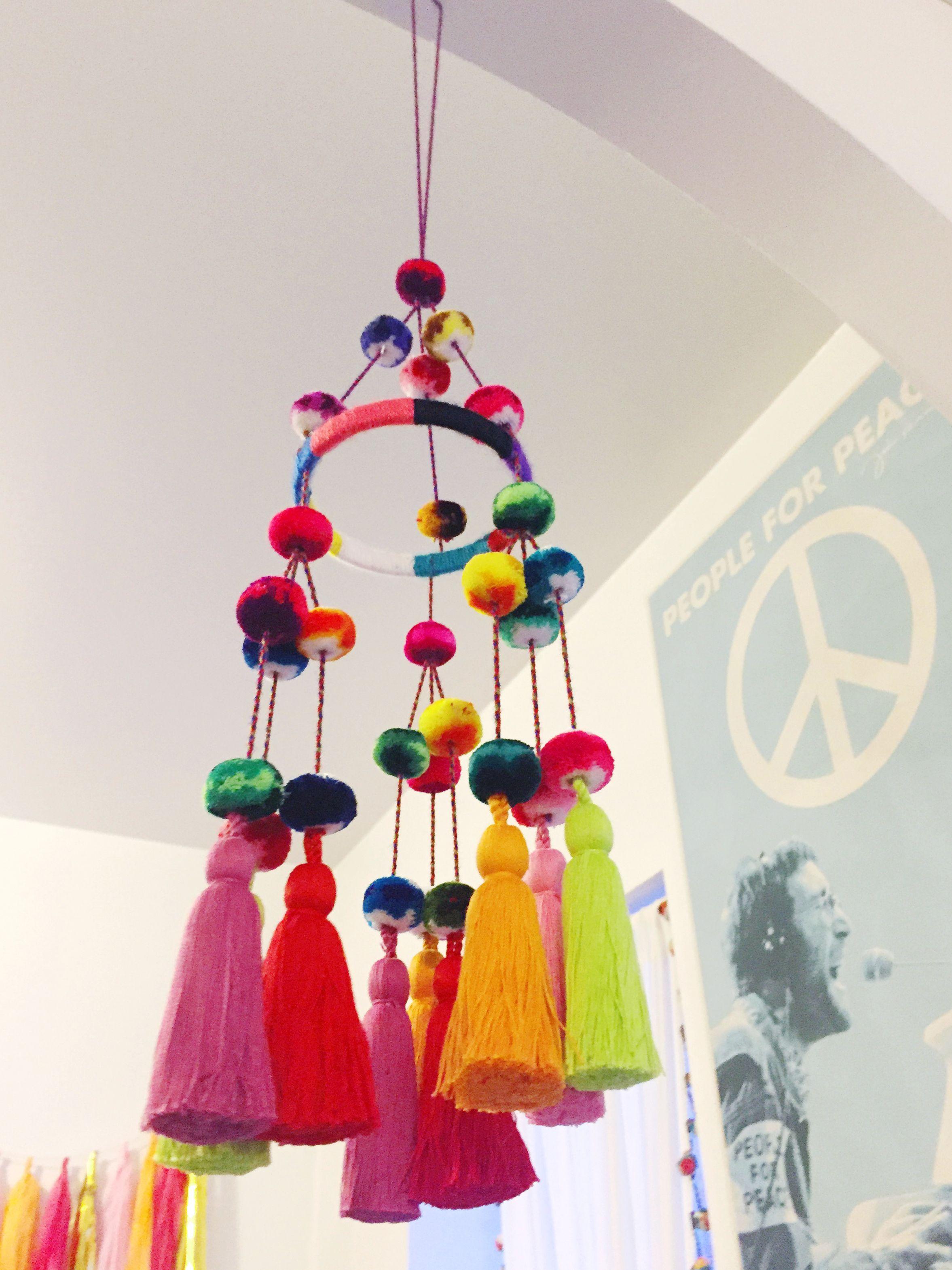 DIY Pompom Chandelier   Paper chandelier, Craft and DIY ideas for Paper Chandelier Craft  146hul