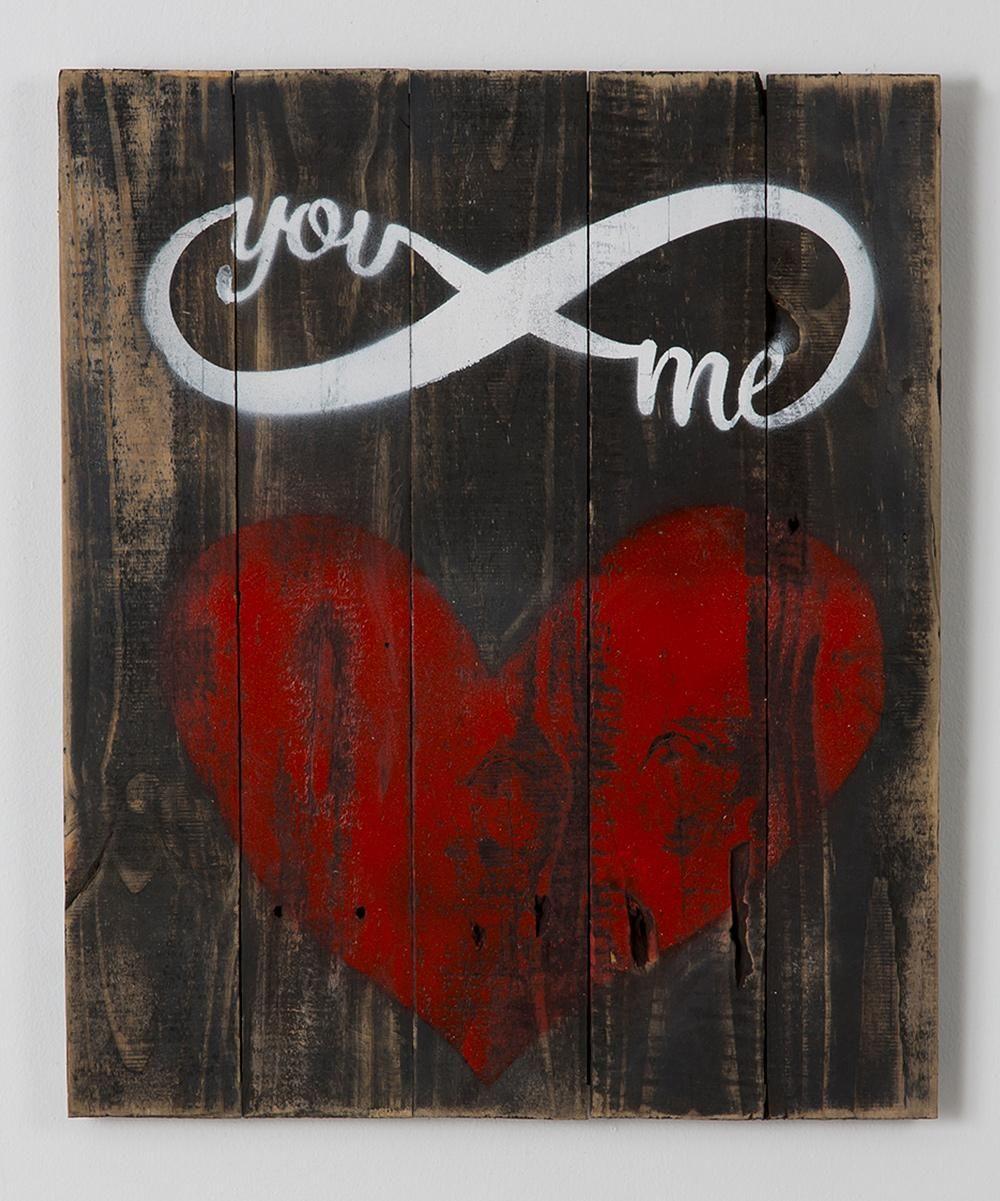 Delhutson designs you u me infinity reclaimed wood wall art