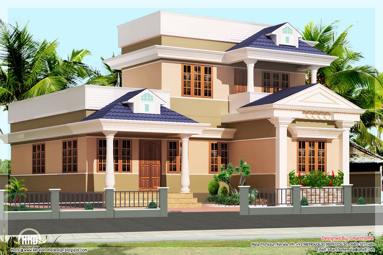 Marvelous G+3 Home Design Part - 8: 3 Bedroom Kerala Villa Elevation U2013 Kerala Home Design Idea