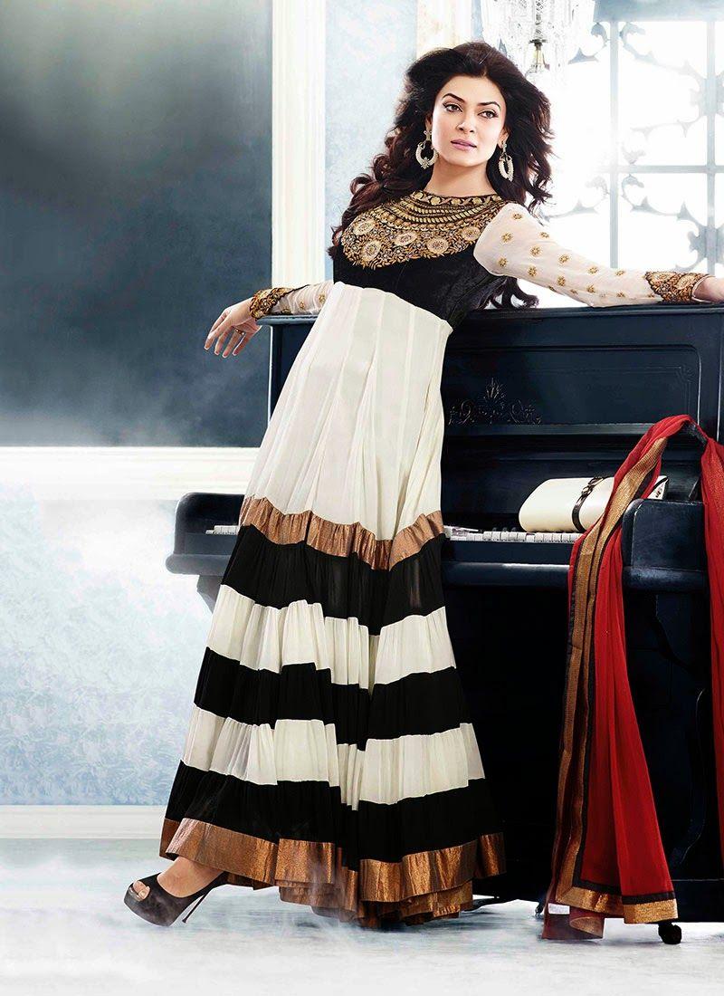 Off white black churidar indian dresses pinterest anarkali