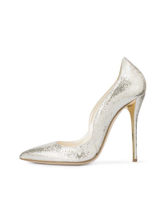 19e26221254f Metallic Sabrina - Event Dressing - Oscar de la Renta Hot Heels