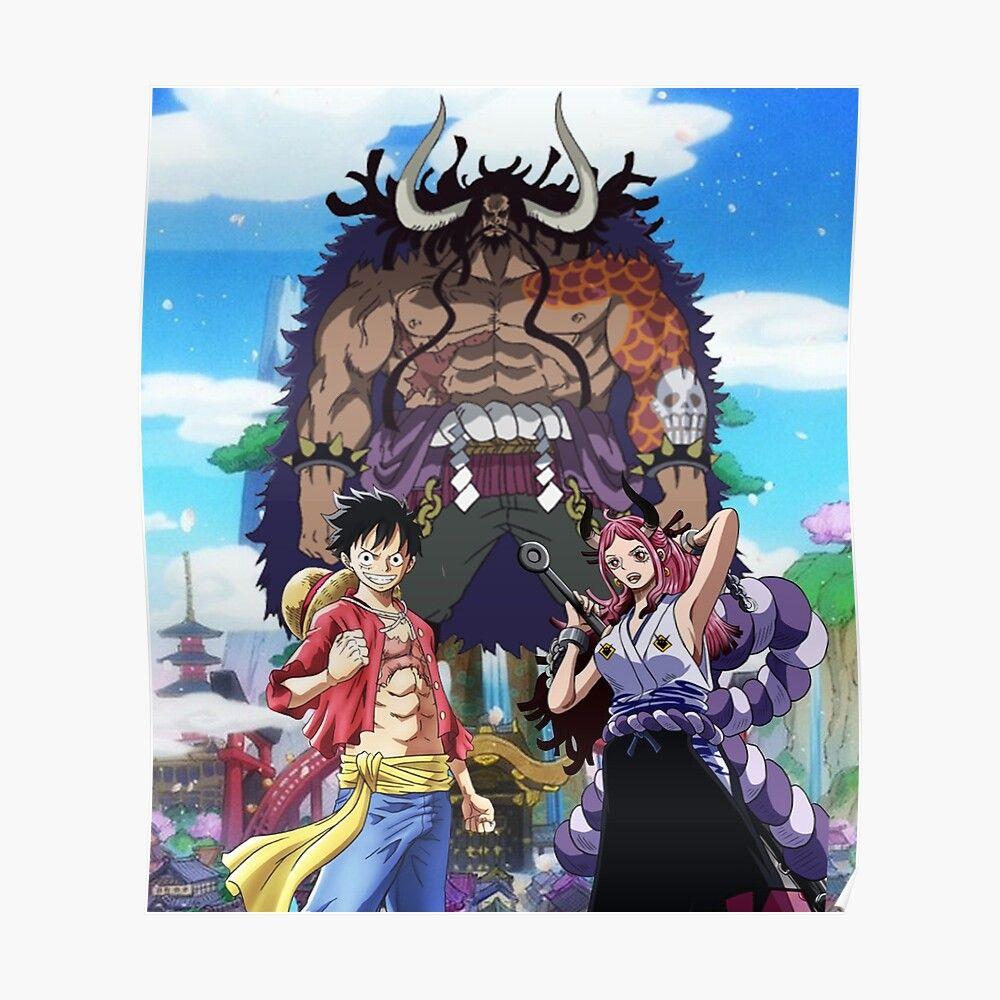 One Piece Yamato And Luffy Vs Kaido Poster By Blackhelmet In 2021 Yamato And Luffy Luffy Vs Kaido One Piece Luffy