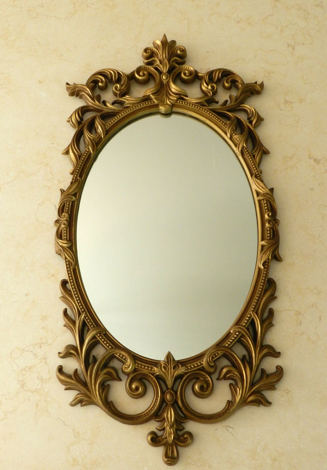 Vintage Gold Mirror Large Hanging Ornate Decorative Turner - Decorative gold mirrors