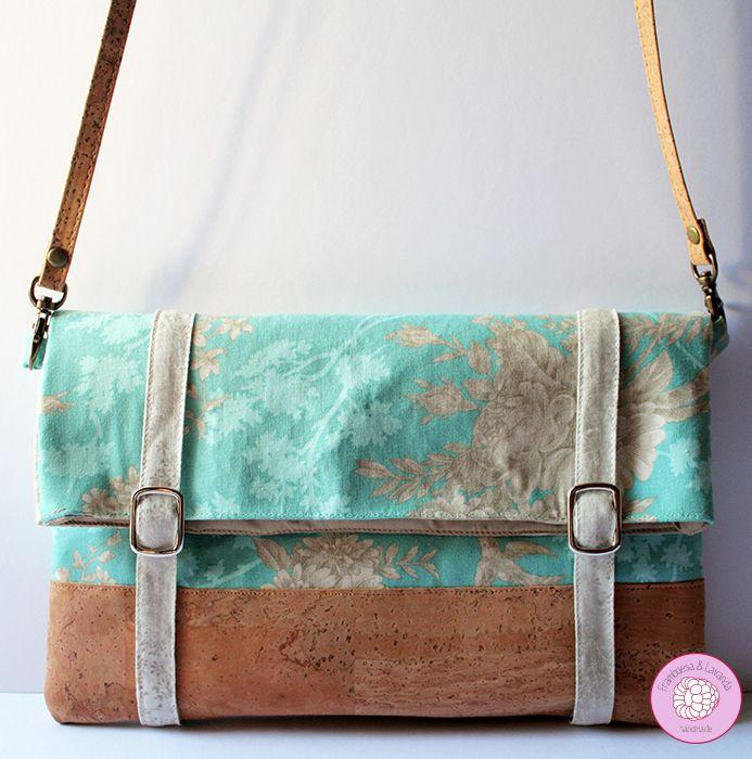 Frambuesa lavanda cork bag and patchwork - Tela de corcho ...