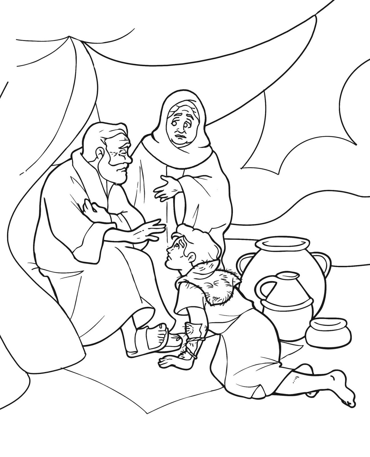 Joshua And The Angel Of The Lord Coloring