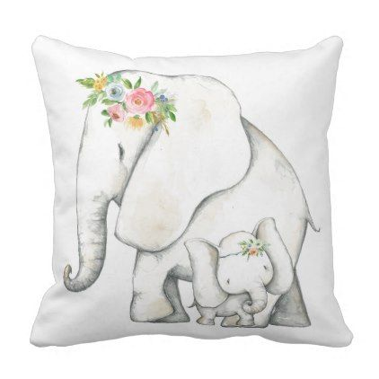 Boho elephant watercolor baby nursery zoo pillow baby gifts child boho elephant watercolor baby nursery zoo pillow baby gifts child new born gift idea diy negle Gallery