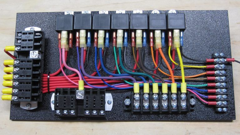 7 Relay Panel W Switched Panel In 2020 Rat Rod Rat Rods Truck Fuse Panel