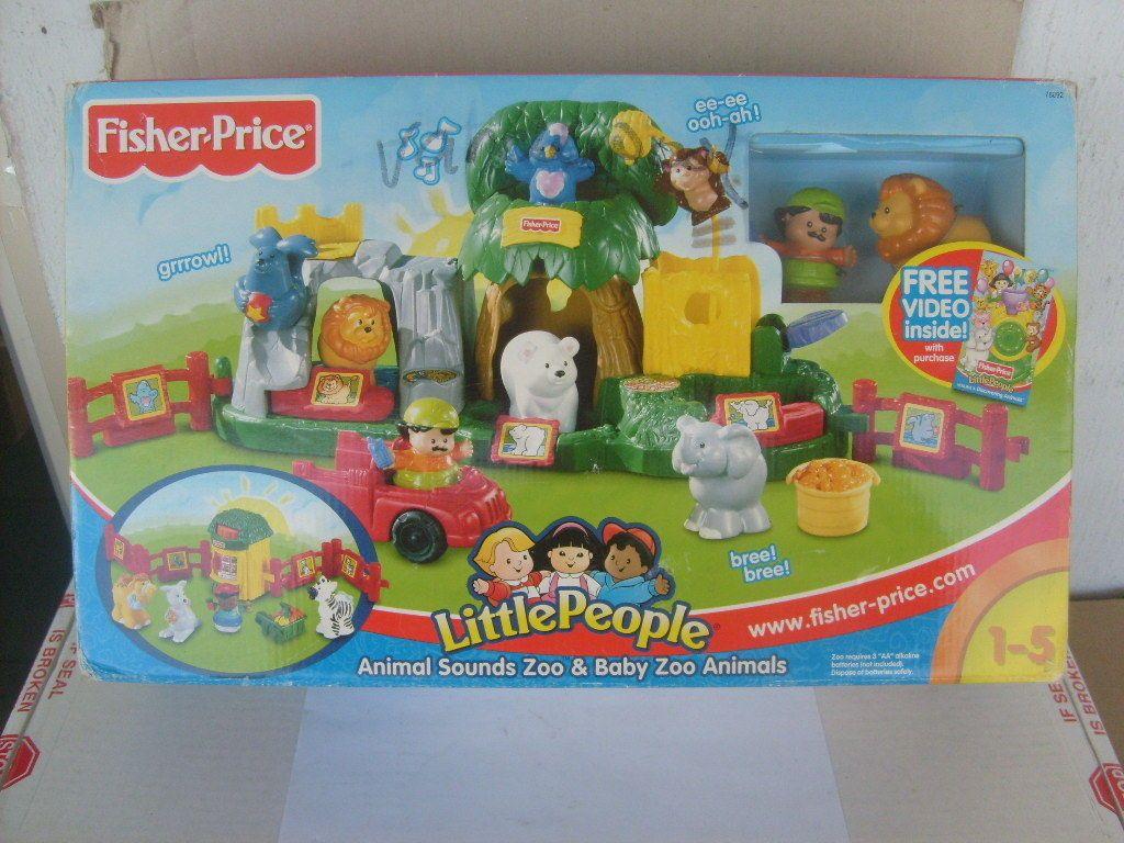 2001 Fisher Price Little People Animal Sounds Zoo Baby Zoo Animals New In Box Ebay Baby Zoo Animals Zoo Animals Zoo Babies