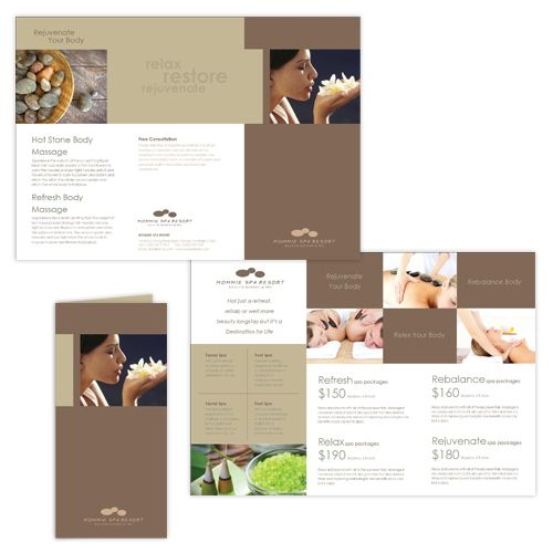 Natural Day Spa Massage Brochure Template – Spa Brochure Template