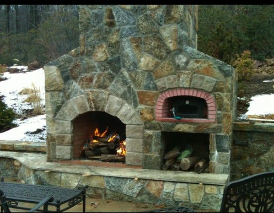 Fireplace Pizza Oven Combo